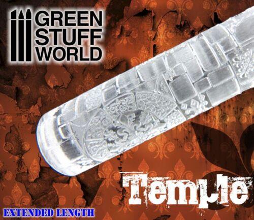 Mattarello con Stampo TEMPIO - per incidere basetta modellismo warhammer