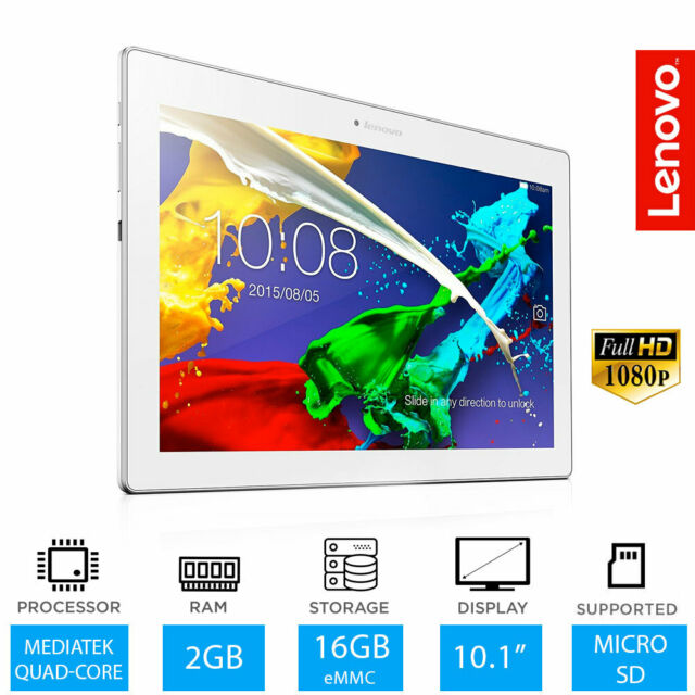 "Lenovo Tab 2 A10-70- 10.1"" Full HD White Tablet 2GB RAM 16GB Storage Android 4.4"