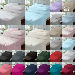 "EXTRA DEEP 40CM 16"" FITTED PERCALE SINGLE DOUBLE KING SUPER KING SHEETS"