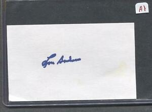 Lou-Boudreau-Signed-3X5-Index-Card-Indians-1938-Debut-Flat-Rate-Ship-A1