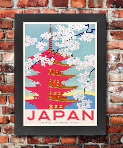 TT48 Vintage Japan Japanese Railway Framed Travel Poster Re-Print A3//A4