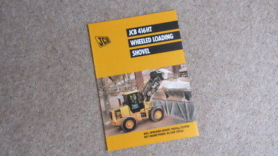 Jcb 416 Ht Wheeled Loading Shovel Brochure 9999/4591 3/01 Other Tractor Publications Business, Office & Industrial