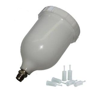 Scratch-Doctor-Spray-Gun-Pot-600ml-Paint-Cup-DEVILBISS-10-Gravity-Filters