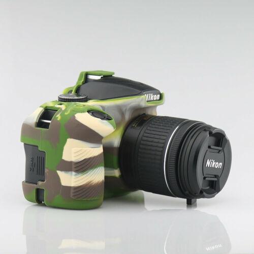 Armadura de silicona piel funda bolsa Protector para Cámara DSLR Nikon D3300