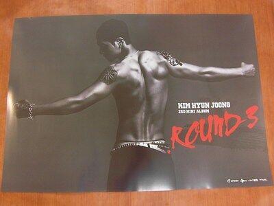 KIM HYUN JOONG - Round 3 [OFFICIAL] POSTER SS501 K-POP *NEW*