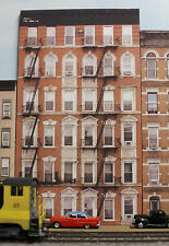 #133 HO scale background building flat OLD APARTMENT BUILDING #1 *FREE SHIPPING*
