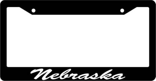 Black License Plate Frame CURSIVE Nebraska Auto Accessory Novelty 2397