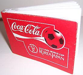 COCA COLA COKE SODA 2002 FIFA WORLD CUP SOCCER PAD