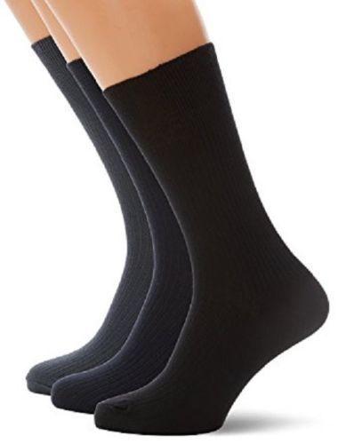 Size 6-11 Black Cotton Rich Cushion Sole Socks 15 Pairs Of Men/'s Sport Socks