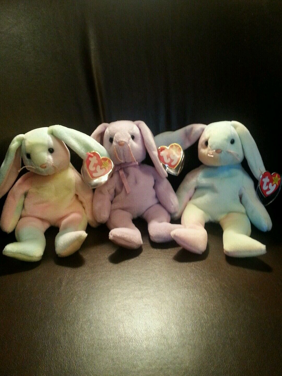 Ty Beanie Babies Hippie and Floppity with rare tag errors