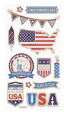 Softy Sticker Aufkleber Embellischment Ziersticker Deko Urlaub USA Reise