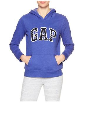 GAP Men/'s Arch Logo Pullover Hoodie Size M MEDIUM L LARGE Blue NWT