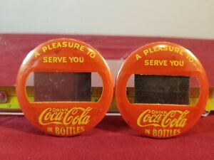 Vintage-Coke-Coca-Cola-Soda-Jerk-Name-Tag-Waitress-Waiter-Button-Pin-NOS-New-60s