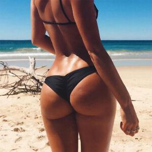 6568ccc45f076 Details zu Sommer Damen Brazilian G-String Bikini Tanga Bikinihose  Stringtanga Raffungen