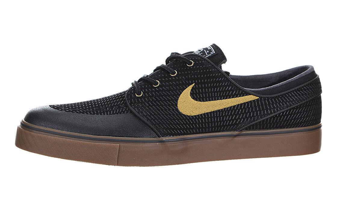 Nike SB Zoom Stefan Janoski Premium SE Black Gum Gold 631298 072 Mens Comfortable