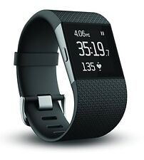 Fitbit Surge Fitness Tracker with GPS/Heart Rate NEW w/ Large Black silicon band