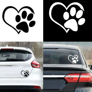 1x-Cute-Dog-Cat-Paw-Heart-Vinyl-Decal-Window-Wall-Bumper-Decor-Sticker