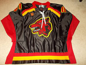 1990 Chemise Minnesota du Vtg Worn Game Used de Institute Wolfpack hockey Gemini OFIwWqdn