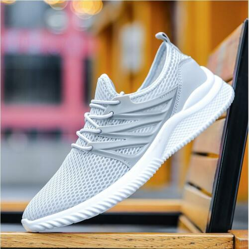 Men/'s Athletic Sports Casual Lightweight Walking Sneakers Solid Breathable Shoes
