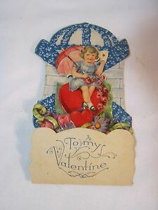 Antique Valentine/'s Day Card pop out