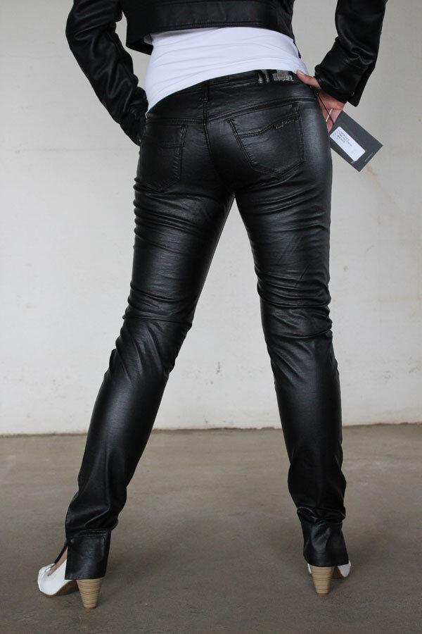 Take Two TKTW Lola Lederhose W27 schwarz Kunstlederhose