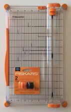 "Fiskars 12"" SureCut Deluxe Paper Trimmer with 2 Cutting and 1 Scoring Blade NEW"