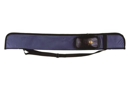 Köcher Oueue Queuetasche Cue Tasche HOBBY blau Pool 1/2 83 cm Weitere Sportarten