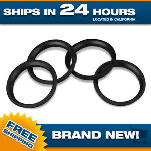 Hubrings-Set-of-4-Polycarbonate-hub-centering-rings-66-6-mm-OD-to-57-1-mm-ID-4pc