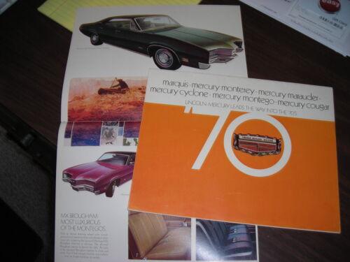 1970 Mercury  Sales Catalog //Cougar//Montego//Cyclone//Marauder// etc.