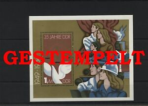 Germany-GDR-vintage-yearset-1984-Mi-Block-79-Postmarked-Used-More-See-Shop