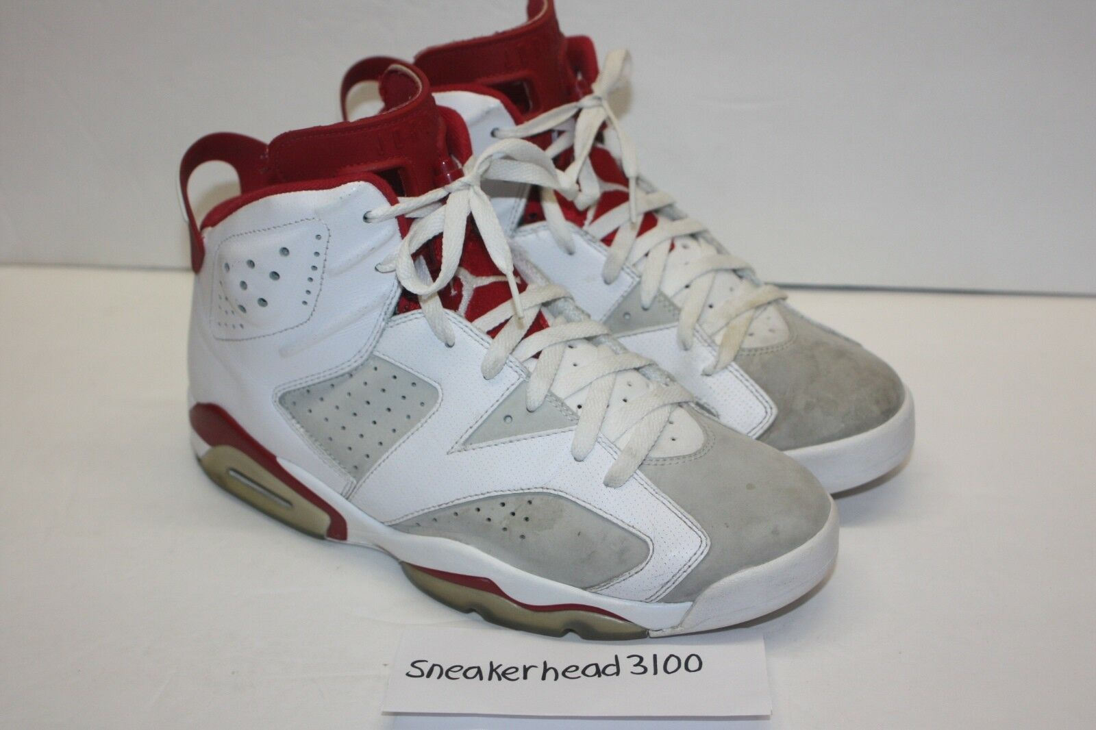 Nike Air Jordan 6 Retro Alternate White Gym Red Platinum 384664-113 Size 11