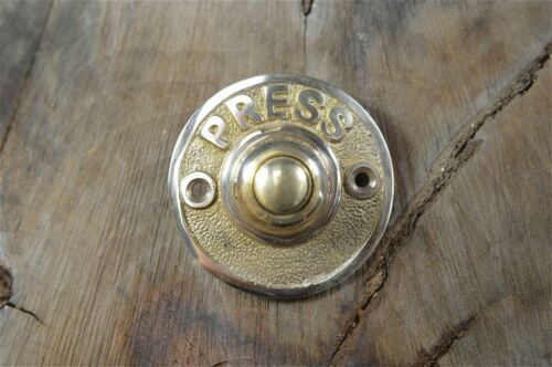 LOVELY SOLID BRASS ANTIQUE STYLE DOOR BELL PUSH ELECTRIC HOUSE FRONT DOOR BELL