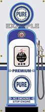 PURE PREMIUM GAS PUMP VINTAGE OLD GAS STATION BANNER GARAGE SIGN ART 2' X 5'