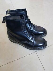 Vintage Dr Martens 1460 black leather boots UK 12 EU 47 Made in England