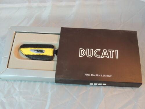 Ducati Jaune Noir Key Holder fine en cuir italien 57/% sur prix de détail Comme neuf