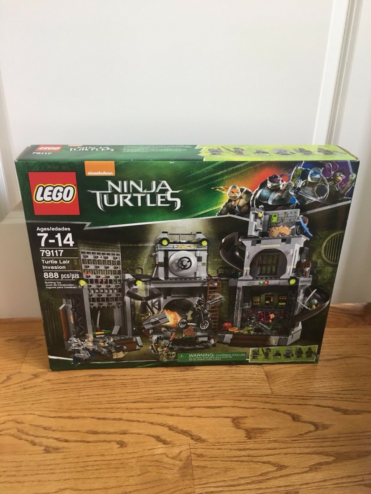 Lego Ninja Turtles Turtle Lair Invasion 79177 Nuovo Sealed Box