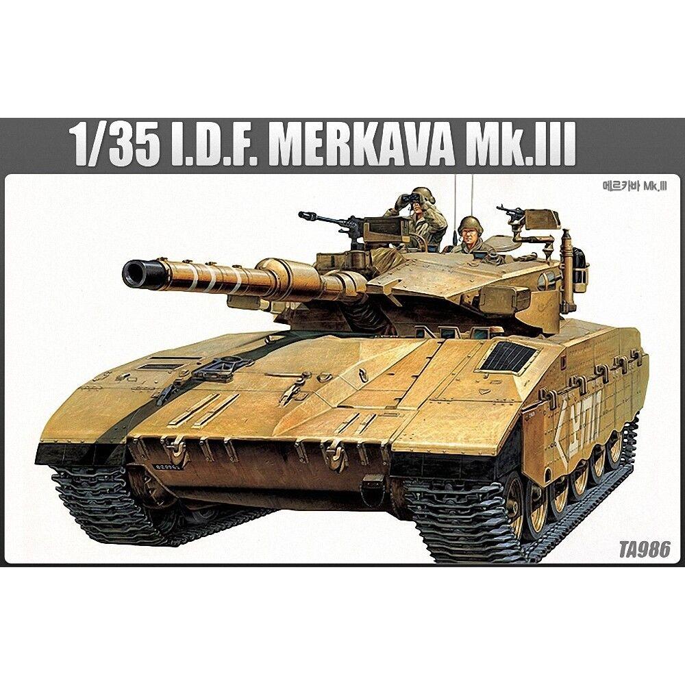 Academy 1391 1 35 Merkava Mk3 Static Plastic Kit - 135 Iii Model Tank 13267 Idf