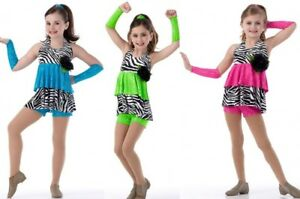 1af7ad49f Wild At Heart Dance Costume Animal Print Shorts & Top wMitts CHOICE ...