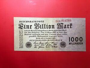 Europe-Allemagne-Allemagne-1000-Milliards-1923-Eine-Million