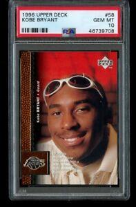 1996-97 Upper Deck Kobe Bryant Rookie PSA 10 Gem Mint RC #58 Los Angeles Lakers