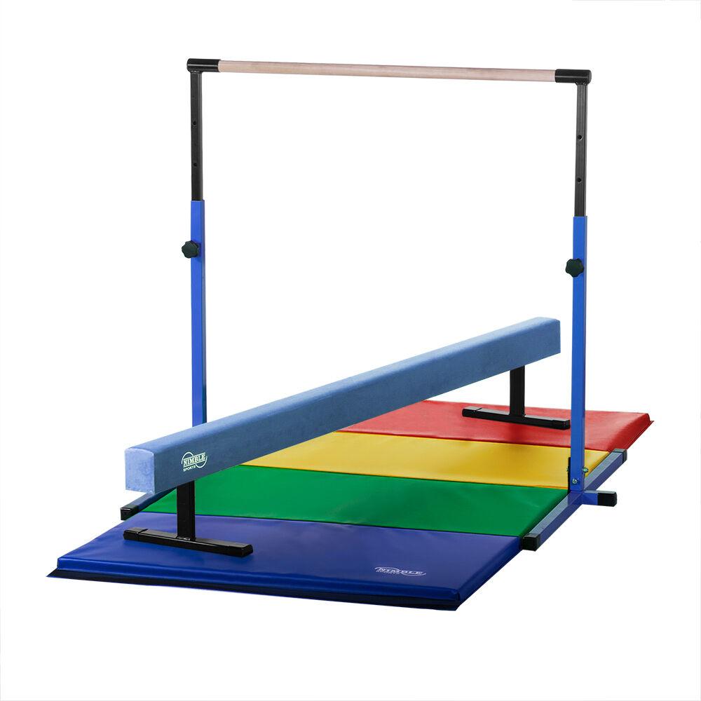 blueee  Horizontal Bar blueee Balance Beam Rainbow Gymnastics Mat Combo  more order