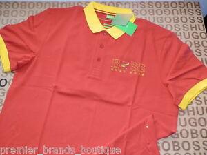 95b211c249eec HUGO BOSS RED SPAIN PADDY PRO ESPAÑA FÚTBOL POLO FOOTBALL CAMISA ...
