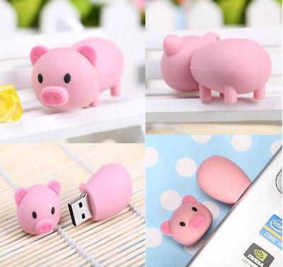 Cartoon pink Pig model USB 2.0 Memory Stick Flash pen Drive 2GB-16Gb U disk