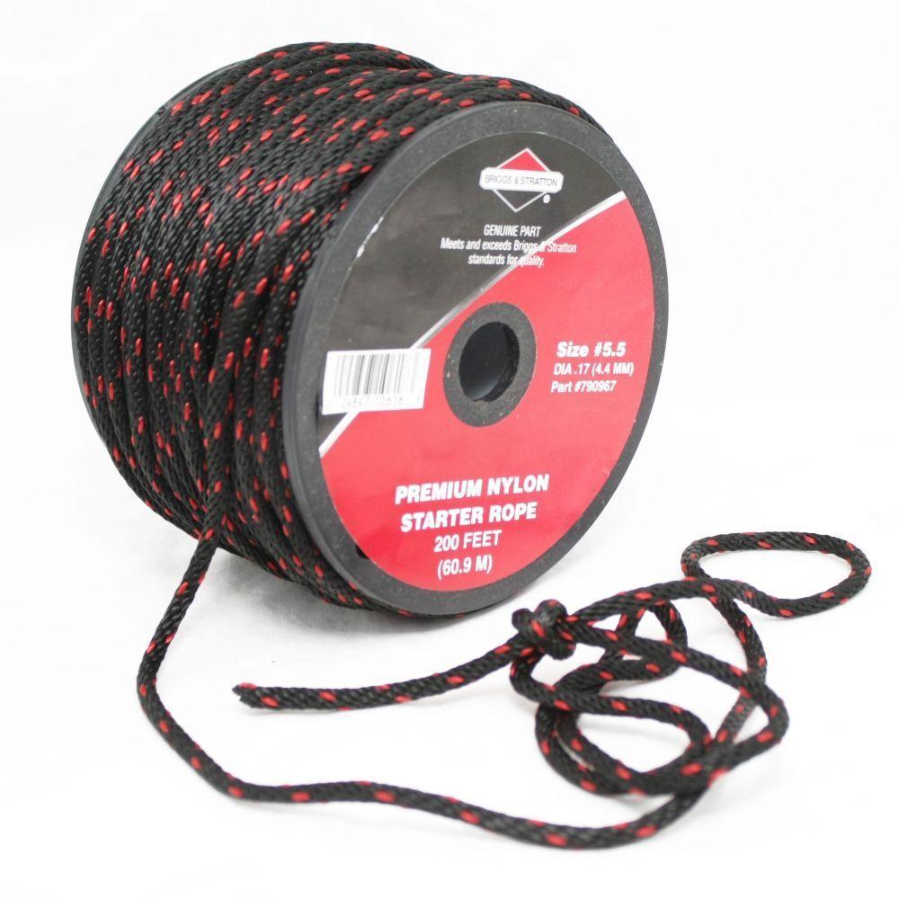 Genuino Briggs & Stratton Arrancador De Retroceso Cuerda 4.4 Mm x 200 ft (approx. 60.96 m) calidad Cable de tracción
