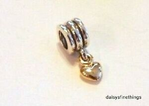 adc68f7f4 NEW/TAGS AUTHENTIC PANDORA CHARM TWO TONE 14K DANGLE HEART #790173 ...