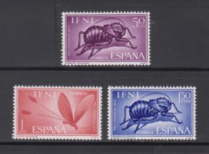 IFNI-1965-MNH-EDIFIL-212-14-NUEVO-SIN-FIJASELLOS-ESPANA-INSECTOS
