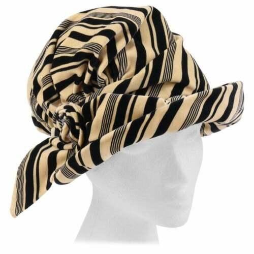 CHRISTIAN DIOR c.1960's Striped Silk Velvet Spiral