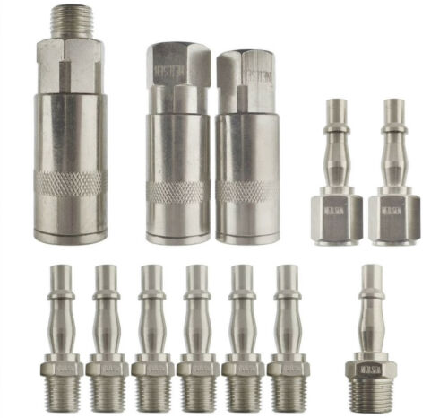 1//4 3//8 inch Male Female CT2887 Neilsen 12pce Air Tool Fittings Quick Coupling