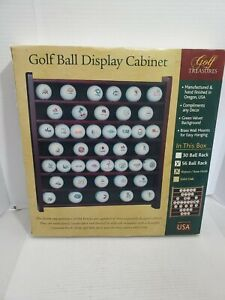 Golf Ball Display Cabinet Rose Colored Wood 56 Ball Display Wall Hanger