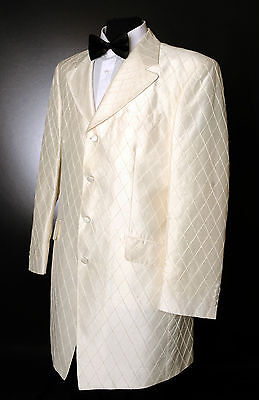 Vorsichtig Mj-105 Ivory Diamond Prince Edward Jacket/wedding/morning/ Occasion